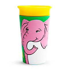 Miracle 360 - Vaso antiderrames, 266 ml - Elefante